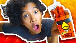 DIY HOT CHEETOS CHICKEN FRIES!!!!!!