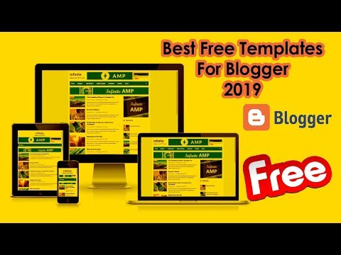 Best Free Templates for blogger 2019 - Responsive and Seo friendly