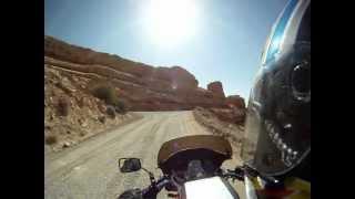 Moto Guzzi Climbing The Moki Dugway