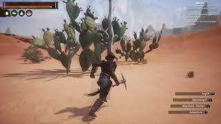 Conan Exiles / Best Bark and Dry Wood farm Route
