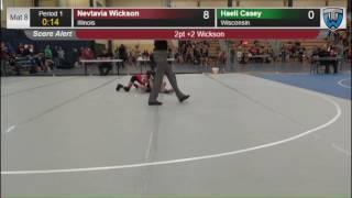 7019 Girls F Nevtavia Wickson Illinois vs Haeli Casey Wisconsin 7864111104