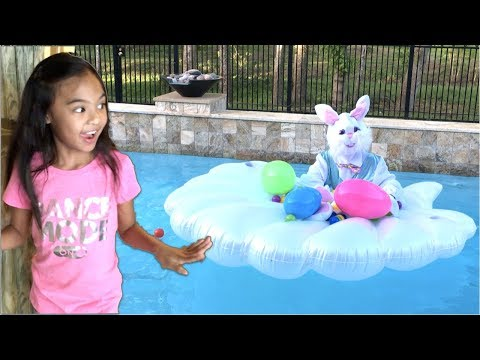 Easter Bunny in our Swimming Pool + Surprise Toys | Toys Academy