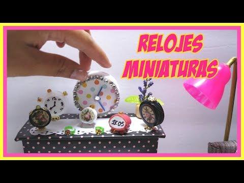 COMO HACER RELOJES PARA MUÑECAS. reloj despertador de pared y de mano ⏰⌚🕰️watches, clocks for dolls