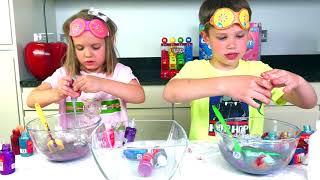 Дети САМИ сняли ЛИЗУН ЧЕЛЛЕНДЖ или 3 Colors of Glue SLIME CHALLENGE