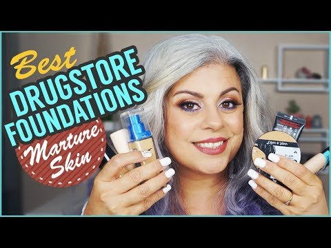 BEST DRUGSTORE FOUNDATIONS For Mature Skin | Maryam Remias
