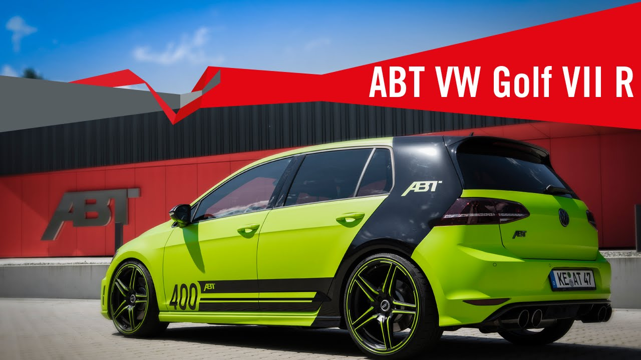 the abt tuning program for your vw golf r. Black Bedroom Furniture Sets. Home Design Ideas