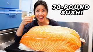 I Made The World's Biggest Sushi thumbnail