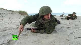 Морпехи Балтийского флота провели масштабные учения в Калининградской области