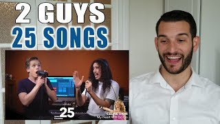 VOCAL COACH Reacts To 2 GUYS, 25 SONGS