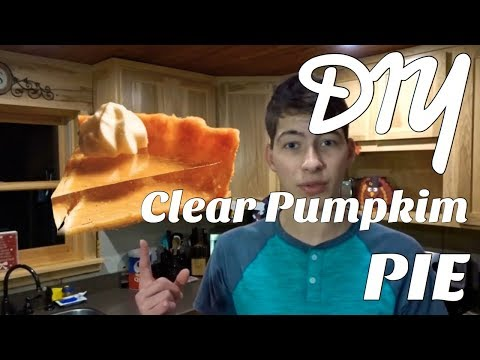 DIY Clear Pumpkin Pie