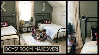 BOYS' ROOM MAKEOVER!! | Boys' Room Ideas 2017