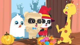 Let's Go Trick Or Treating | Baby Pandas Naughty Halloween Night | Halloween Songs | BabyBus