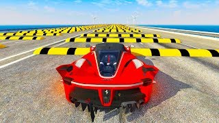 Speed Bumps High Speed Crashes #2 - BeamNG Drive Compilation (BeamNG Drive Crashes)