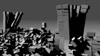 preview picture of video 'Blender - Rigid Body Physics - Wall Getting Destroyed By Cannonballs'