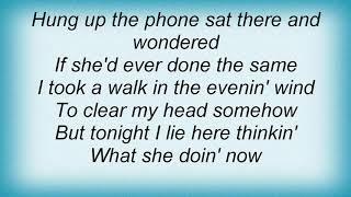 "Video thumbnail of ""Garth Brooks - What She's Doing Now Lyrics"""