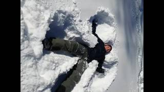 Snow fallen angel