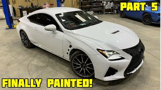 Rebuilding a Wrecked Lexus RCF Part 5