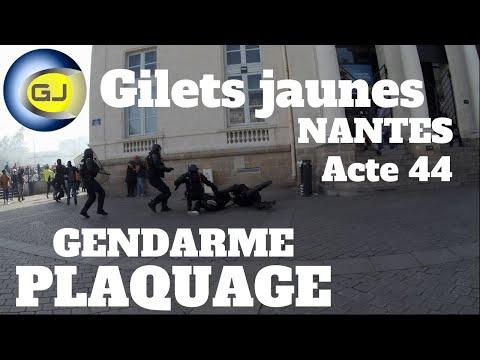 Gilets Jaunes Nantes : arrestation musclée, plaquage gendarmes. Acte 44, 14 septembre 2019.