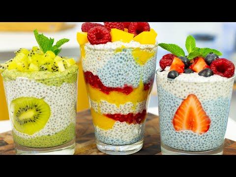 Healthy Сhia Pudding Recipe 3 Ways
