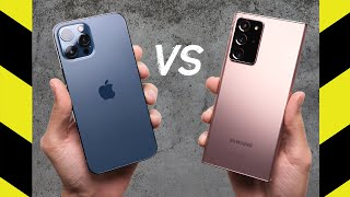 Apple iPhone 12 Pro Max vs Samsung Galaxy Note20 Ultra Drop Test