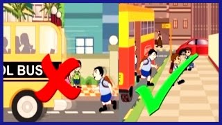 Road Safety For Kids | Kids Educational Video | Rhymes4Kids