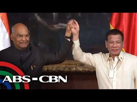 [ABS-CBN]  President Duterte, Indian President Kovind issue joint statement | 18 October 2019