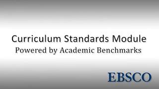 Curriculum Standards Module - Tutorial