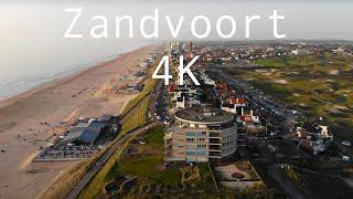 Flying Over Zandvoort, The Netherlands In 4K