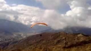 Paragliding over La Paz Bolivia