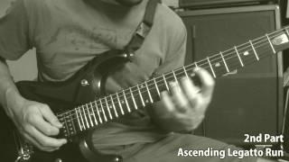Dream Theater (Awake) - Scarred Solo - Lesson (Ascending Legato Run)