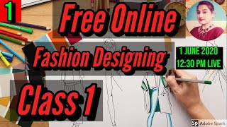 Free Online Fashion Designing Course CLASS 1 // How To Draw BODICE Block