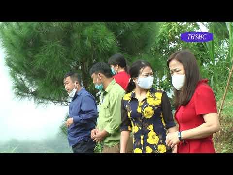 Đồng chí Đinh Minh Hà kiểm tra các mô hình tại thôn Phìn Chư 3