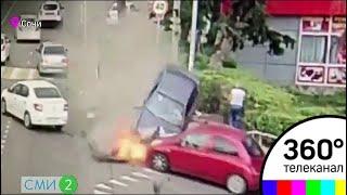 В Сочи водитель въехал в пешеходов. Видео. СМИ2