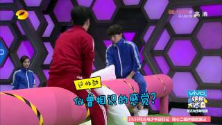 [ENG CC] 20150523 Happy Camp Jing Boran Yang Yang Pillow Fight