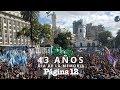 Marcha Por El 24 De Marzo: Una Multitud En La Plaza De Mayo