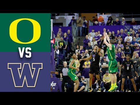 #8 Oregon vs Washington Highlights 2020 College Basketball