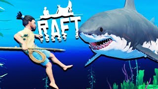 HUGE New Raft Update! - SHARK ATTACKS and Raft Building - Raft Gameplay