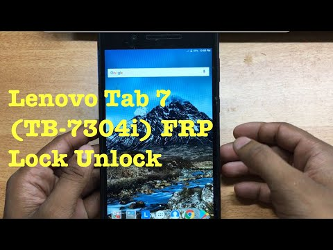 Lenovo Tab 4 TB 7304i Frp Bypass Done With SP Flash Tool Easy