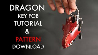 Leather Dragon Key Fob - Pattern And Tutorial