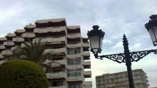 preview picture of video 'Pasada sobre los edificios de Santa Eulalia (Hidros CL215T)'