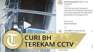Video Pria Berjaket Ojek Online Curi BH di Kos-kosan Terekam CCTV