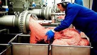 How Sausages Produced Inside The Factory - Amazing Food Processing Machines - Cake Production Line