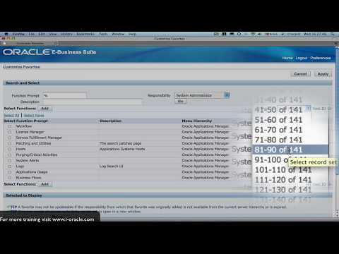 Oracle Training - Navigating in Oracle E-Business Suite R12 ...