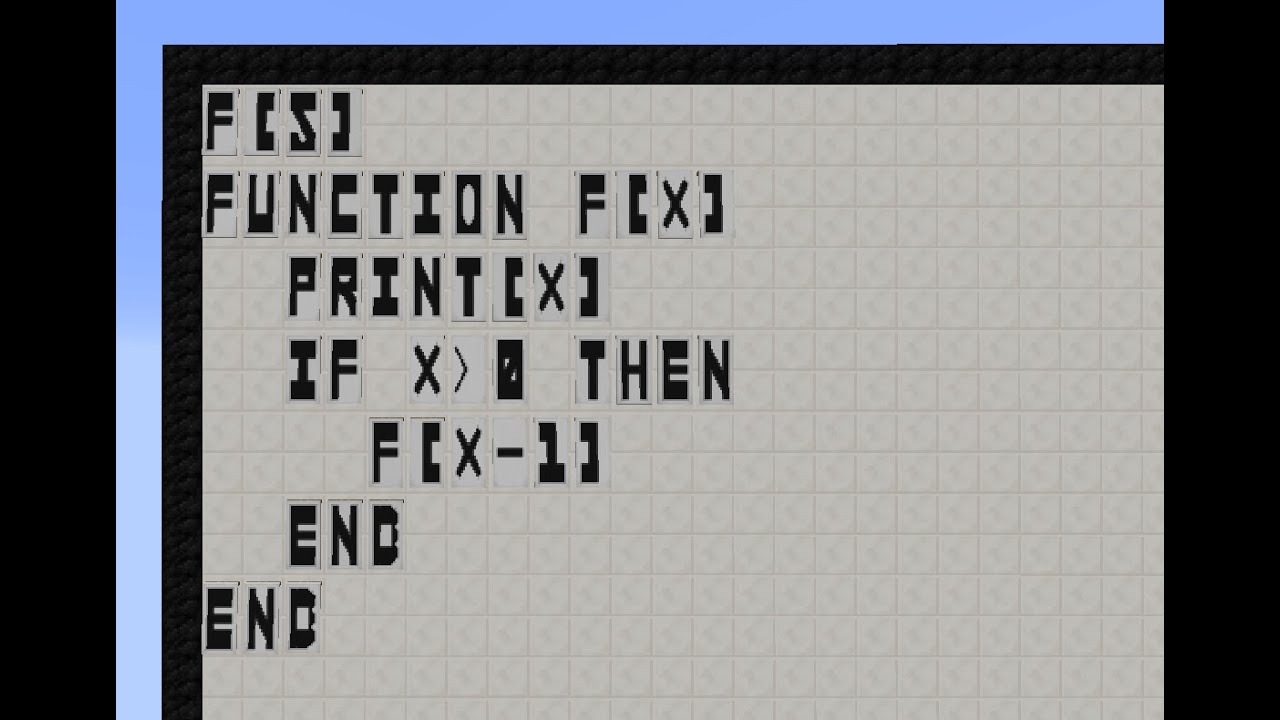 This Mod Lets You Write And Run BASIC Programming Code In Minecraft