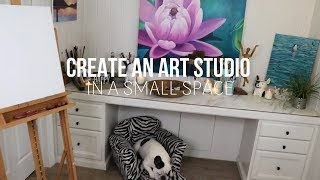 HOW TO CREATE AN ART STUDIO IN A SMALL SPACE
