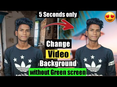 Change video background - No green screen😍🔥 | How to change Video background without Green screen