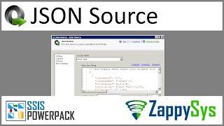SSIS JSON File Source - Read JSON file or Web Service URL (REST, ODATA)