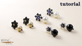 DIY Simple Stud Earrings || How To Make Beaded Earrings || Super Easy Tutorial