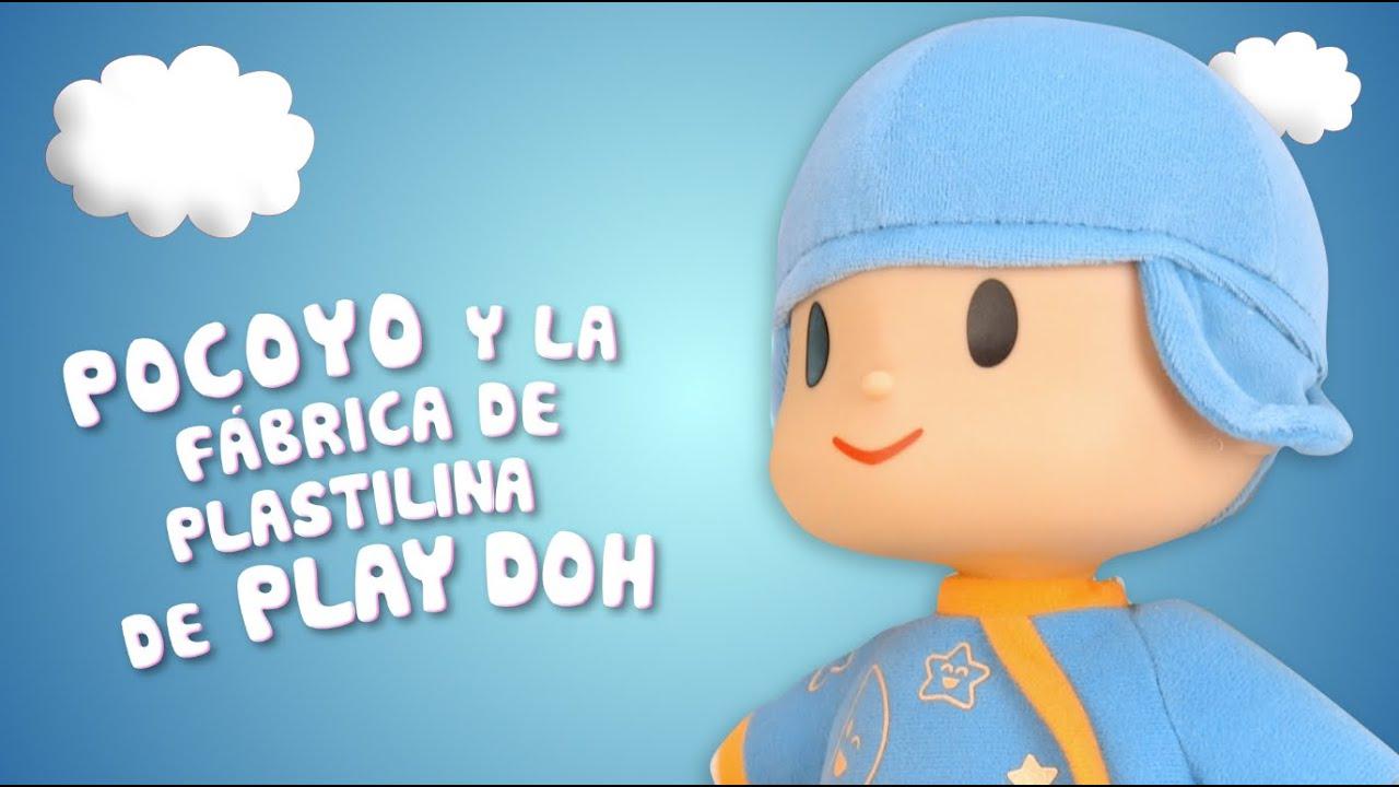 Pocoyo juega con la fábrica de plastilina de Play Doh | Juguetes infantiles