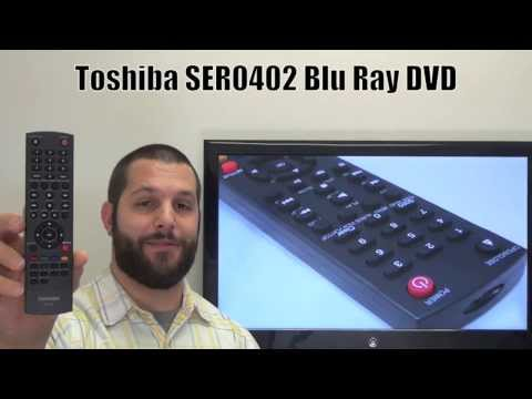 TOSHIBA SER0402 Blu-Ray DVD Player Remote Control